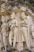 Apsaras, ladies of the court preening and posing — Stock Photo