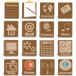 Wooden Icons — Stock Vector #1424439
