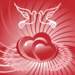 Royalty-Free Stock Vector Image: Heart and dove