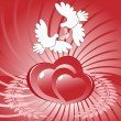 Heart and dove — Stock Vector