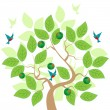 Aple Tree — Vector de stock