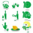 Royalty-Free Stock Vector Image: Green Dishes