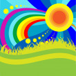 Royalty-Free Stock Vektorov obrzek: Sun And Rainbow