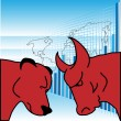 Bulls And Bears — Stock Vector