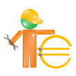 Repair Euro — Stock Vector