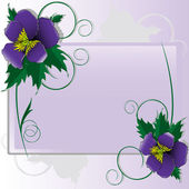 Violets — Stock Vector