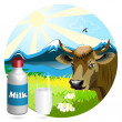 Stock Vector: Milk