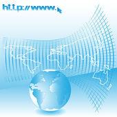 インターネットの web — ストックベクタ