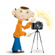 Photographer — Stock Vector