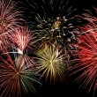Stock Photo: Colorful firework show