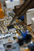Circuit board repair — Stock Photo