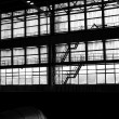 Stock Photo: Silhouette of industrial facility