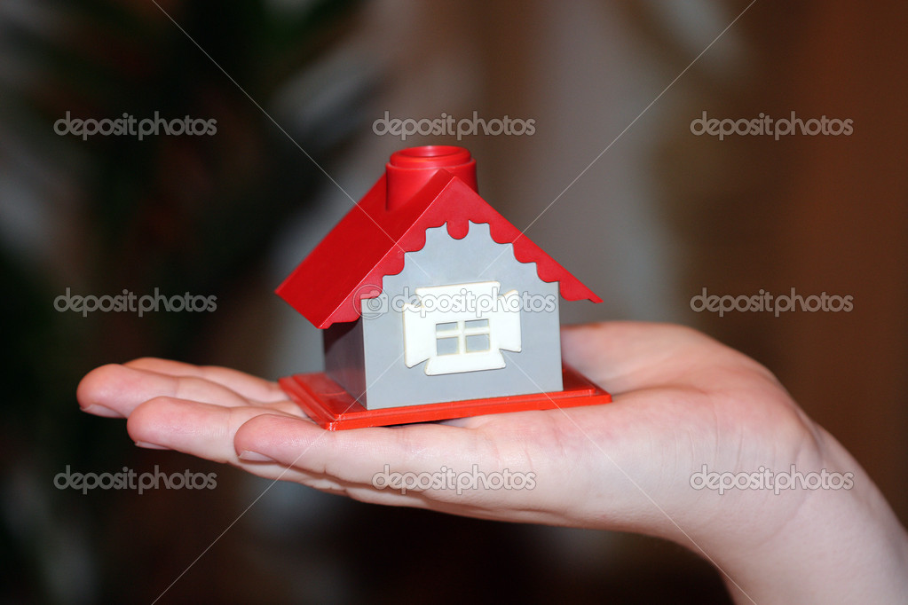 The house in human hand  Stock Photo #1437507