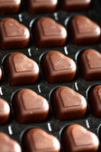 Chocolate in box close-up — Stock Photo