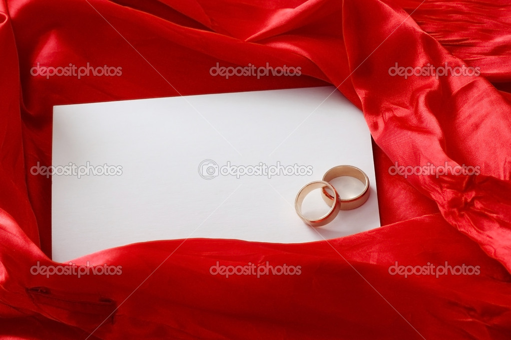 Invitation card on silk background — Stock Photo #1983209