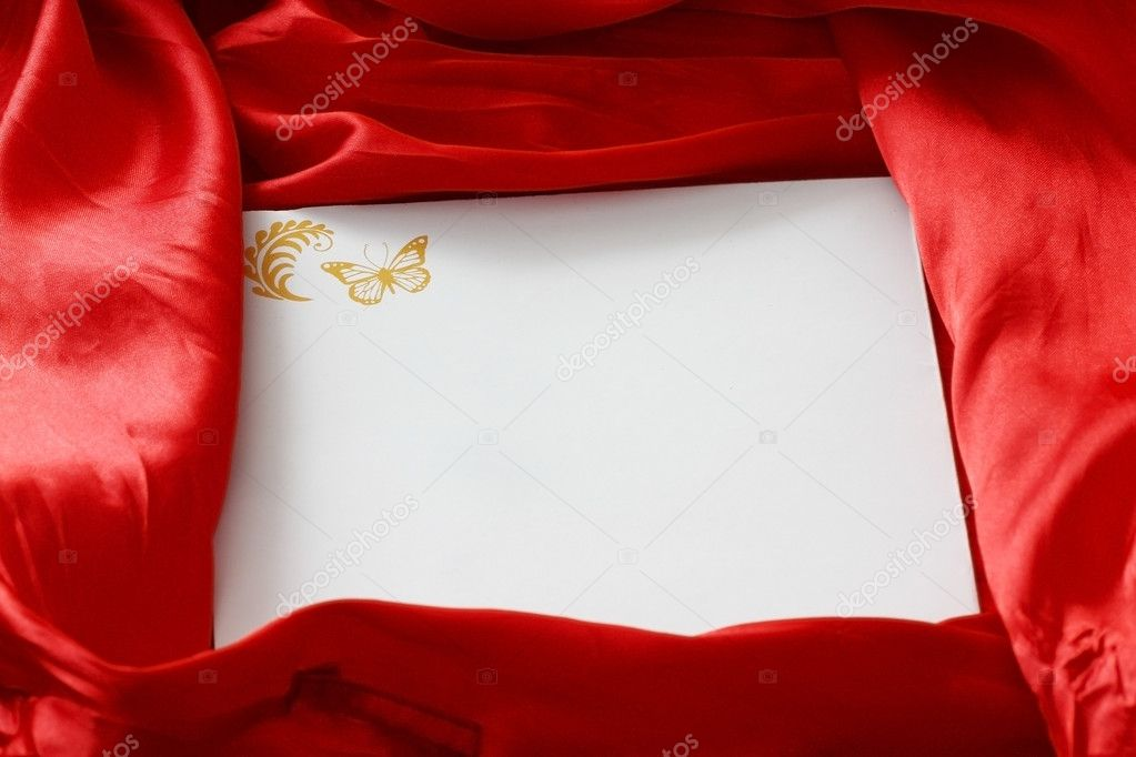 Invitation card on silk background — Stock Photo #1983221