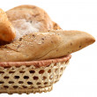 Arrangement of bread in basket — Stock Photo #2200958