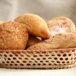 Arrangement of bread in basket — Stock Photo #2200987