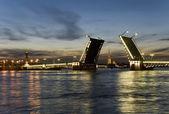 Bridge - White night — Stock Photo