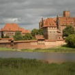 Highlighted Malbork castle — Stock Photo #1450314