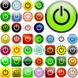Power buttons - Stock Vector