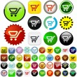 Shopping button. - Stock Vector