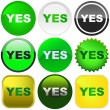 Royalty-Free Stock Vector Image: YES button set