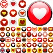 Royalty-Free Stock Vector Image: Heart icons.