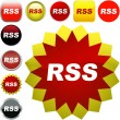 Stock Vector: RSS buttons.