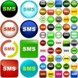 Stock Vector: Sms buttons.