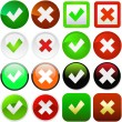 Royalty-Free Stock Vector Image: Approved and rejected buttons.