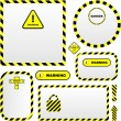Warning vector banner. - Stock Vector