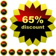Discount label templates — Stock Vector