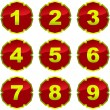 Royalty-Free Stock Vector Image: Number icons. Vector set.
