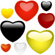 Vector collection of heart icons. — Stock Vector