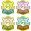 Royalty-Free Stock Vector Image: Vector labels for text in various colors