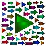 Arrow set vector for design. — Stock Vector