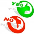 Royalty-Free Stock Vector Image: Yes and No icon. Vector beautiful icon set.