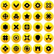 Vector collection of web elements - Stock Vector