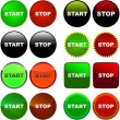 START and STOP button set — Stock Vector #1437861