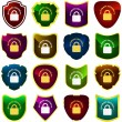 Padlock button set. Vector collection. — Stock Vector