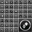 Vector collection of web buttons — Stock Vector
