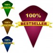 Vector de stock : Bestseller emblem. Vector illustration