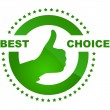 Best choice vector label. - Imagen vectorial