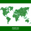 Vector map of the world. Business background. — Vector de stock