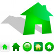Royalty-Free Stock Vektorfiler: Home sticker set. Vector illustration.