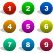 Number icons. Vector set. — Stock Vector