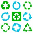 Recycle symbol collection. Vector illustration — Wektor stockowy #1438928