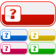 Question vector elements. — Stock Vector