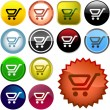 Shopping button. Vector collection. — Stock Vector #1439054
